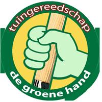 de groene hand tuingereedschap